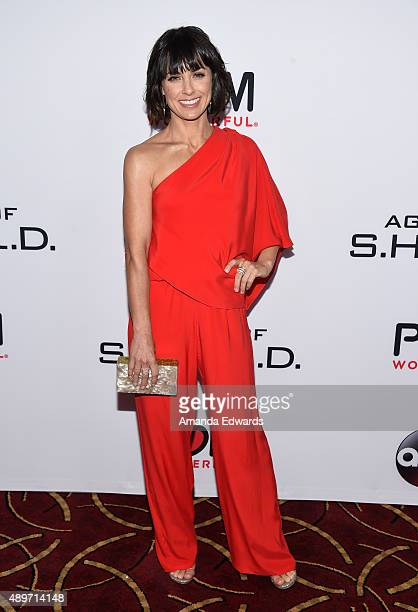 Actress Constance Zimmer arrives at the premiere of Marvel's 'Agents Of SHIELD' at Pacific Theatres at The Grove on September 23 2015 in Los Angeles...