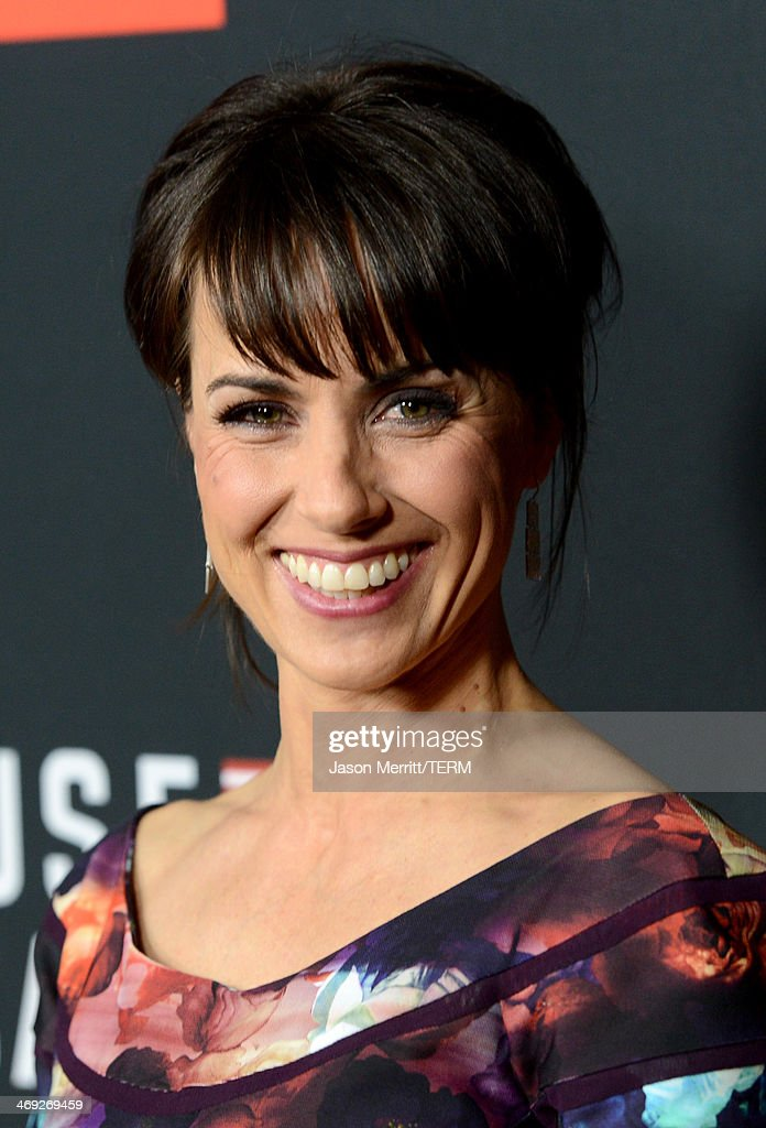 Actress <a gi-track='captionPersonalityLinkClicked' href=/galleries/search?phrase=Constance+Zimmer&family=editorial&specificpeople=217359 ng-click='$event.stopPropagation()'>Constance Zimmer</a> arrives at the special screening of Netflix's 'House of Cards' Season 2 at the Directors Guild of America on February 13, 2014 in Los Angeles, California.