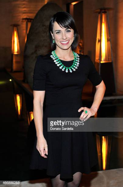 Actress Constance Zimmer attends a cocktail party to celebrate the debut fragrance by Irene Neuwirth hosted by Barneys New York on February 4 2014 in...