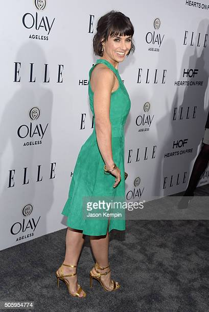 Actress Constance Zimmer attends ELLE's 6th Annual Women In Television Dinner at Sunset Tower Hotel on January 20 2016 in West Hollywood California