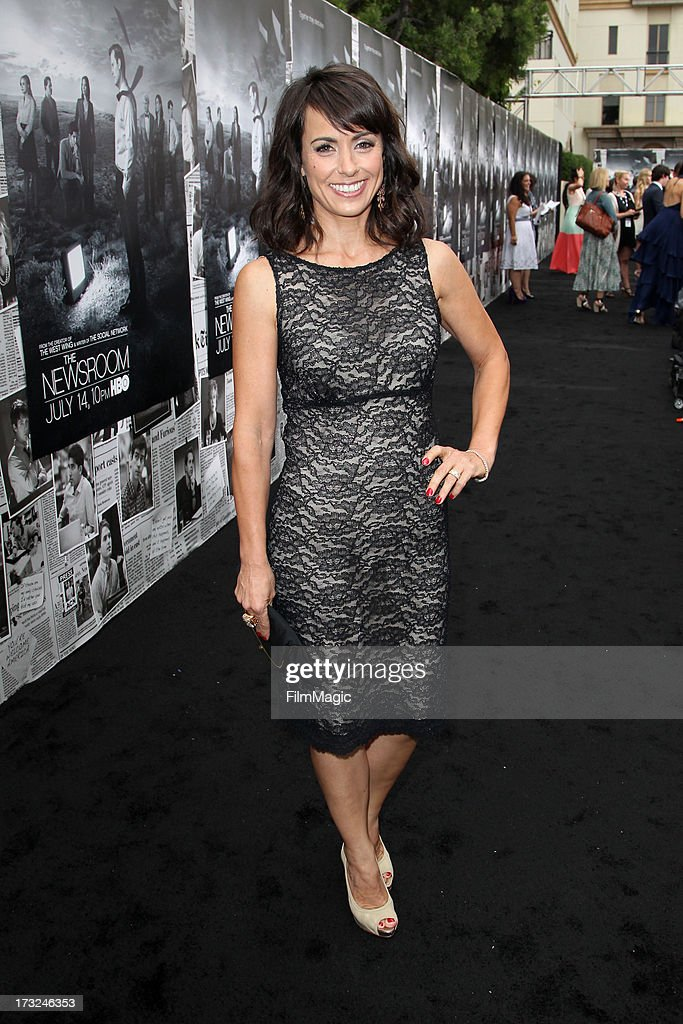 Actress Constance Zimmer attends HBO's 'The Newsroom' season 2 premiere at Paramount Studios on July 10, 2013 in Hollywood, California.