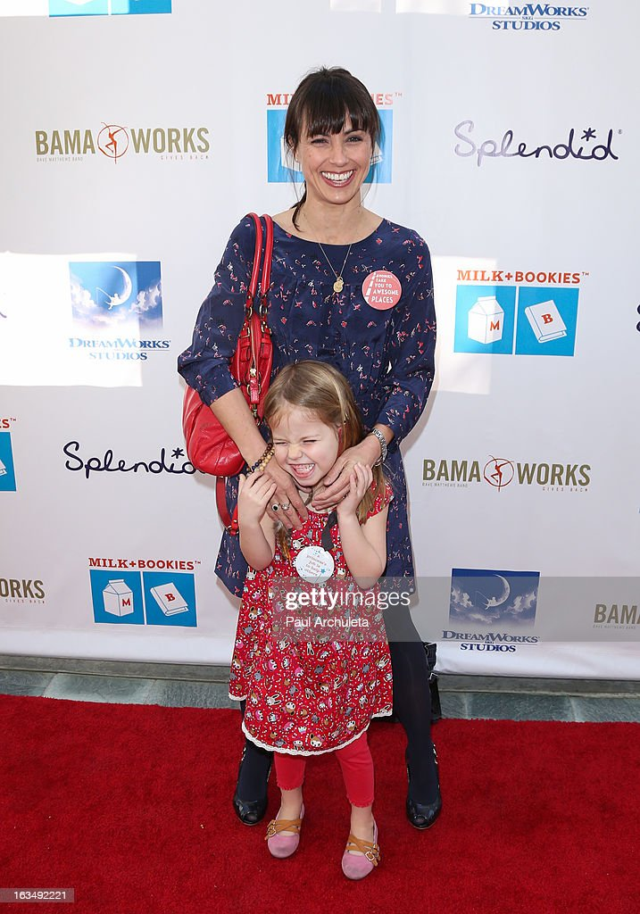 Actress <a gi-track='captionPersonalityLinkClicked' href=/galleries/search?phrase=Constance+Zimmer&family=editorial&specificpeople=217359 ng-click='$event.stopPropagation()'>Constance Zimmer</a> attends the 4th annual Milk+Bookies story time celebration at The Skirball Cultural Center on March 10, 2013 in Los Angeles, California.