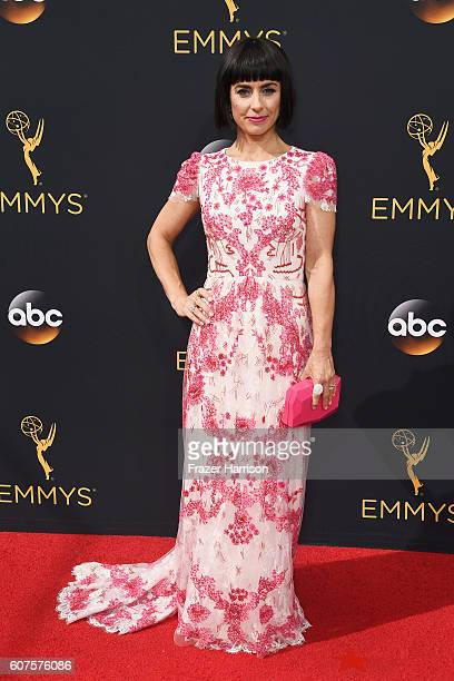 Actress Constance Zimmer attends the 68th Annual Primetime Emmy Awards at Microsoft Theater on September 18 2016 in Los Angeles California
