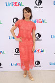 Actress Constance Zimmer attends the Lifetime 'UnREAL' Group Date and Champagne Brunch Aboard Dandeana Yacht With Cast and Executive Producers In...