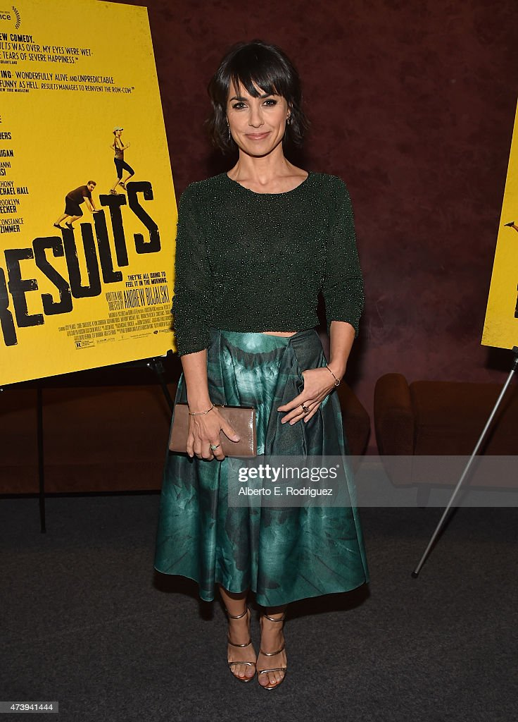 Actress Constance Zimmer attends the Los Angeles special screening of 'Results' at Landmark Theatre on May 18 2015 in Los Angeles California