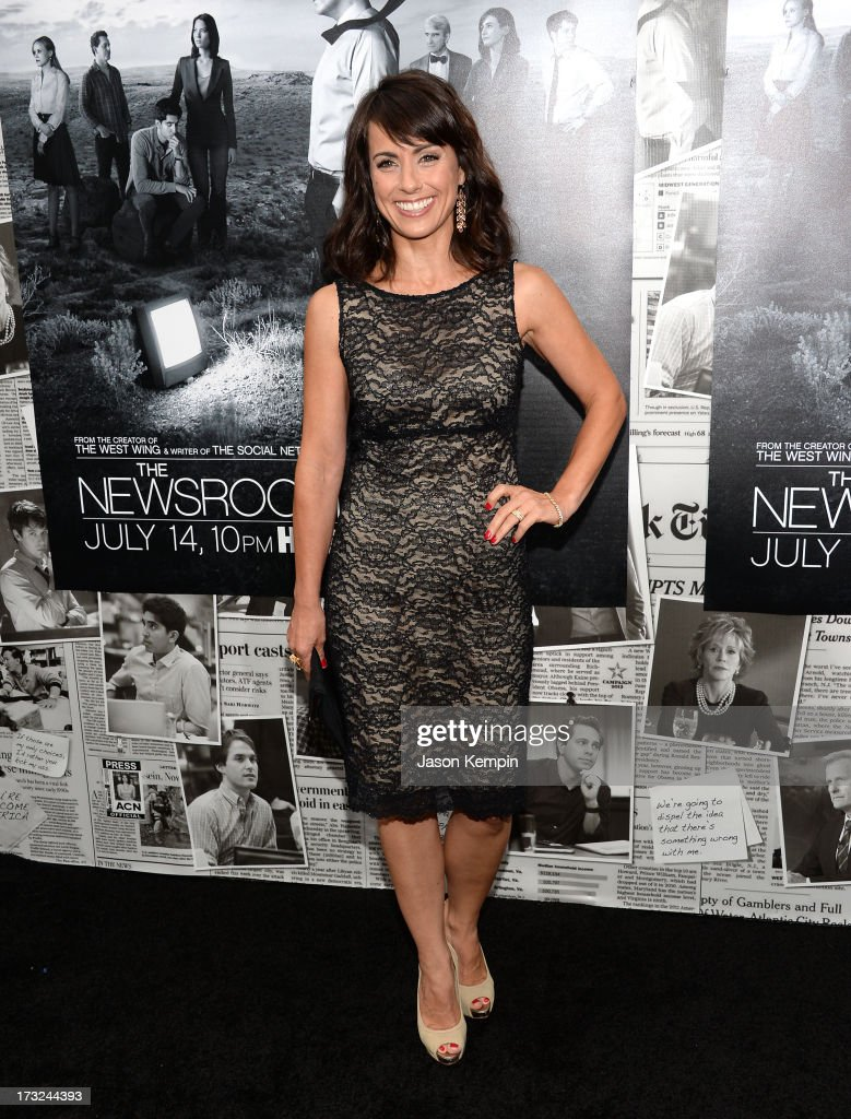 Actress <a gi-track='captionPersonalityLinkClicked' href=/galleries/search?phrase=Constance+Zimmer&family=editorial&specificpeople=217359 ng-click='$event.stopPropagation()'>Constance Zimmer</a> attends the premiere of HBO's 'The Newsroom' Season 2 at Paramount Theater on the Paramount Studios lot on July 10, 2013 in Hollywood, California.