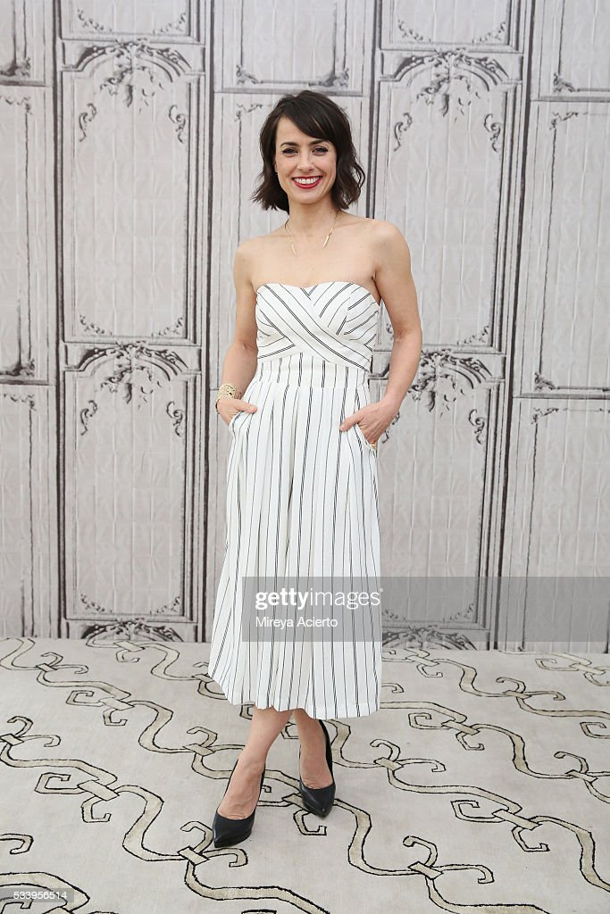 Actress <a gi-track='captionPersonalityLinkClicked' href=/galleries/search?phrase=Constance+Zimmer&family=editorial&specificpeople=217359 ng-click='$event.stopPropagation()'>Constance Zimmer</a> from the television show, 'UnREAL', visits AOL Studios in New York on May 24, 2016 in New York City.