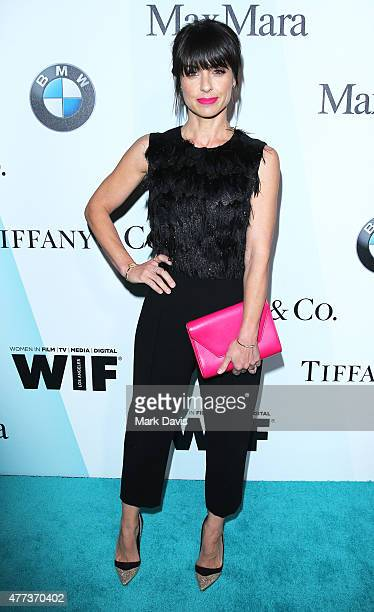 Actress Constance Zimmer wearing Max Mara attends the Women In Film 2015 Crystal Lucy Awards Presented by Max Mara BMW of North America and Tiffany...