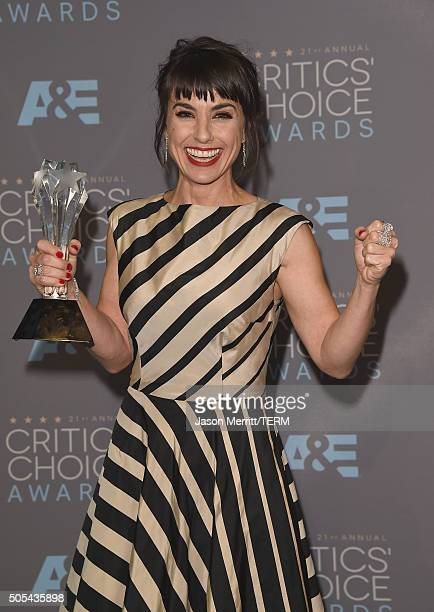 Actress Constance Zimmer winner of Best Supporting Actress in a Drama Series for 'UnREAL' poses in the press room during the 21st Annual Critics'...