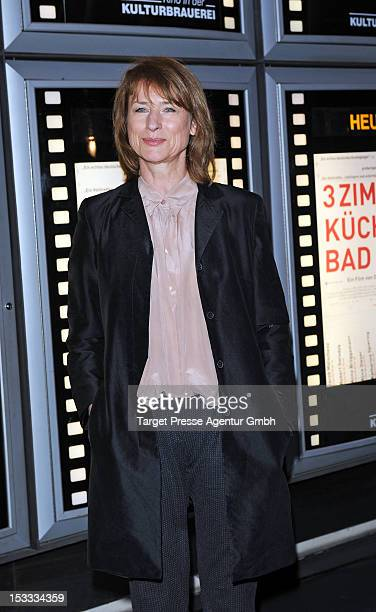 Actress Corinna Harfouch attends the premiere of the movie '3 Zimmer Kueche Bad' at 'Kulturbrauerei' on October 3 2012 in Berlin Germany