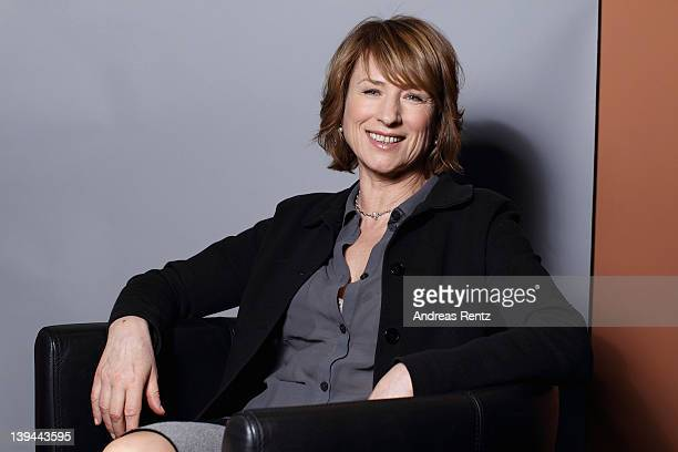 Actress Corinna Harfouch attends 'Was Bleibt' Portrait Session during day seven of the 62nd Berlin International Film Festival on February 15 2012 in...