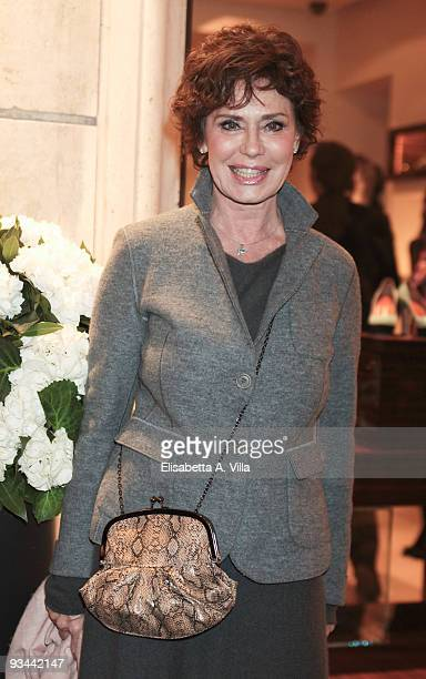 Actress Corinne Clery attends Moreschi Flagship Store Opening at Frattina street on November 26 2009 in Rome Italy