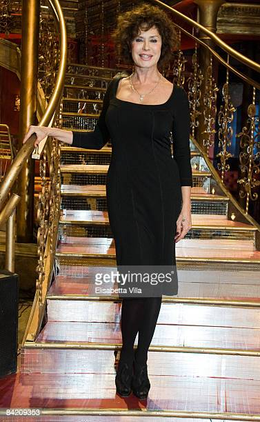 Actress Corinne Clery attends photocall of the Italian TV show 'Strictly Come Dancing' on January 8 2009 in Rome Italy