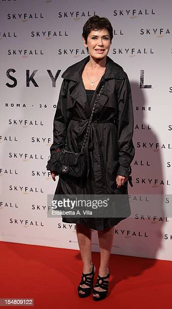 Actress Corinne Clery attends 'Skyfall' Rome Premiere at Warner Cinema Moderno on October 26 2012 in Rome Italy