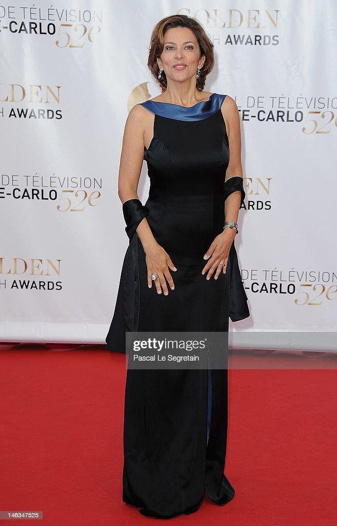 Actress Corinne Touzet arrives at the Closing Ceremony of the 52nd Monte Carlo TV Festival on June 14, 2012 in Monte-Carlo, Monaco.