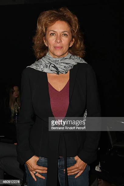 Actress Corinne Touzet attend in Backstage the Laurent Gerra Show at Palais des Sports on December 27 2014 in Paris France