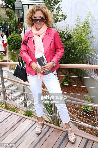 Actress Corinne Touzet attends the Roland Garros French Tennis Open 2014 Day 6 on May 30 2014 in Paris France