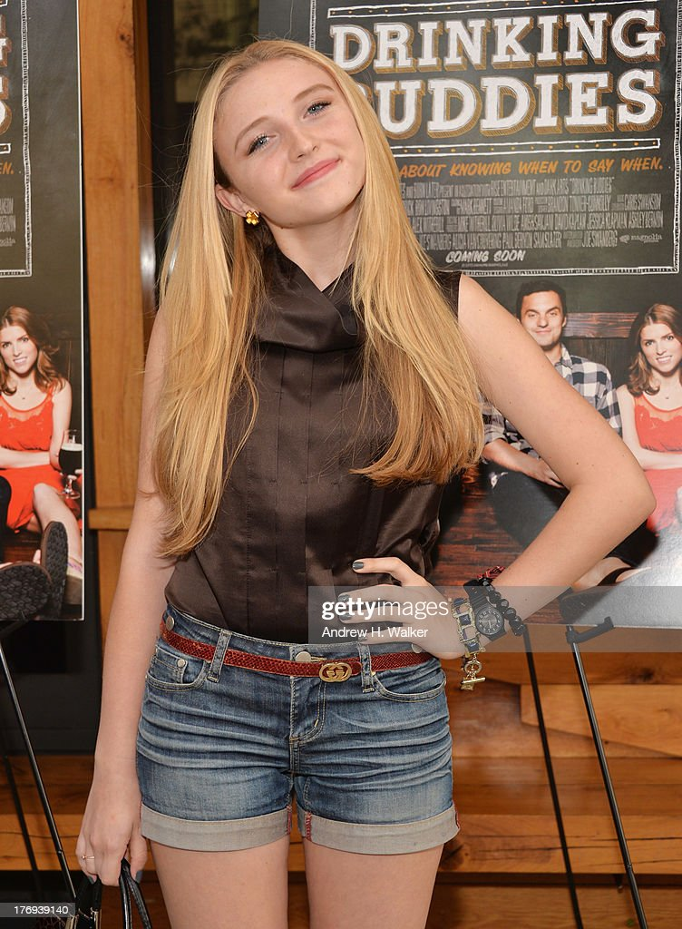 Actress Cortland Tate attends the 'Drinking Buddies' screening at Nitehawk Cinema on August 19, 2013 in the Brooklyn borough of New York City.