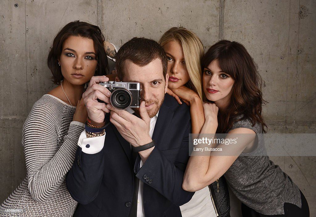 Actress Cortney Palm, director Jordan Rubin, and actresses Lexi Atkins and <a gi-track='captionPersonalityLinkClicked' href=/galleries/search?phrase=Rachel+Melvin&family=editorial&specificpeople=594120 ng-click='$event.stopPropagation()'>Rachel Melvin</a> from 'Zombeavers' pose for the 2014 Tribeca Film Festival Getty Images Studio on April 19, 2014 in New York City.