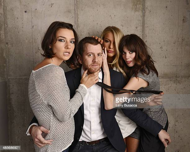 Actress Cortney Palm director Jordan Rubin and actresses Lexi Atkins and Rachel Melvin from 'Zombeavers' pose for the 2014 Tribeca Film Festival...