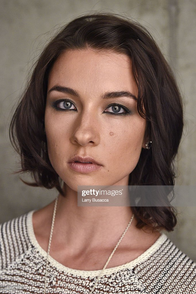 Actress Cortney Palm from 'Zombeavers' poses for the 2014 Tribeca Film Festival Getty Images Studio on April 19, 2014 in New York City.