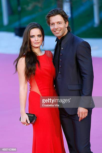 Actress Cosima Coppola and actor Francesco Testi attend 'Furore' premiere during the Roma Fiction Fest 2014 Closing Ceremony Pink Carpet at...