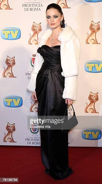 Actress Cosima Coppola arrives at the Italian TV Awards ''Telegatti'' at the Auditorium Conciliazione on January 20 2008 in Rome Italy