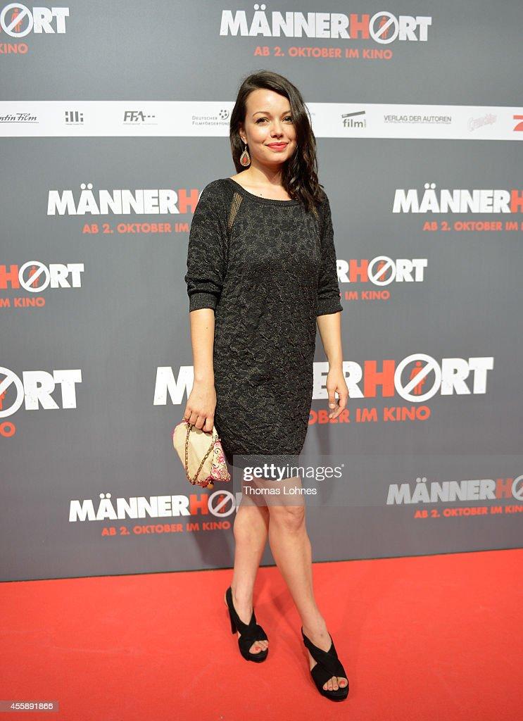 Actress Cosma Shiva Hagen attends the German premiere of the film 'Maennerhort' at CineStar Metropolis on September 21 2014 in Frankfurt am Main...