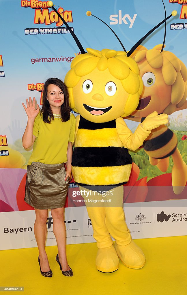 Actress Cosma Shiva Hagen attends the German premiere of the film 'Die Biene Maja Der Kinofilm' at Mathaeser Filmpalast on September 7 2014 in Munich...