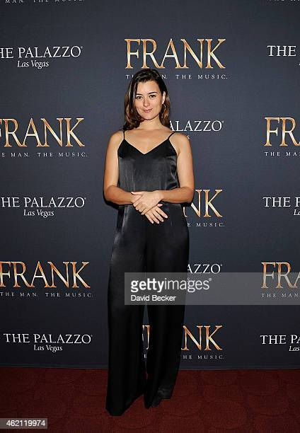 Actress Cote de Pablo arrives at the premiere of 'Frank The Man The Music' at The Palazzo Las Vegas on January 24 2015 in Las Vegas Nevada