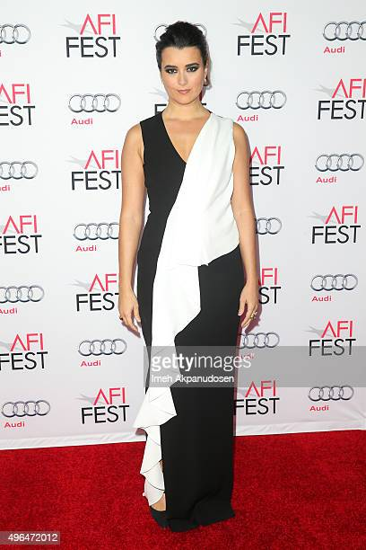 Actress Cote de Pablo attends the Centerpiece Gala premiere of Alcon Entertainment's 'The 33' at TCL Chinese Theatre on November 9 2015 in Hollywood...