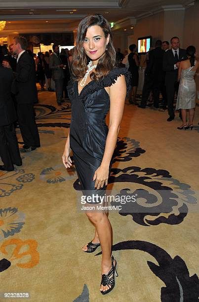 OUT*** Actress Cote de Pablo attends the Monte Carlo Television Festival cocktail party held at the Beverly Hills Hotel on October 24 2009 in Beverly...