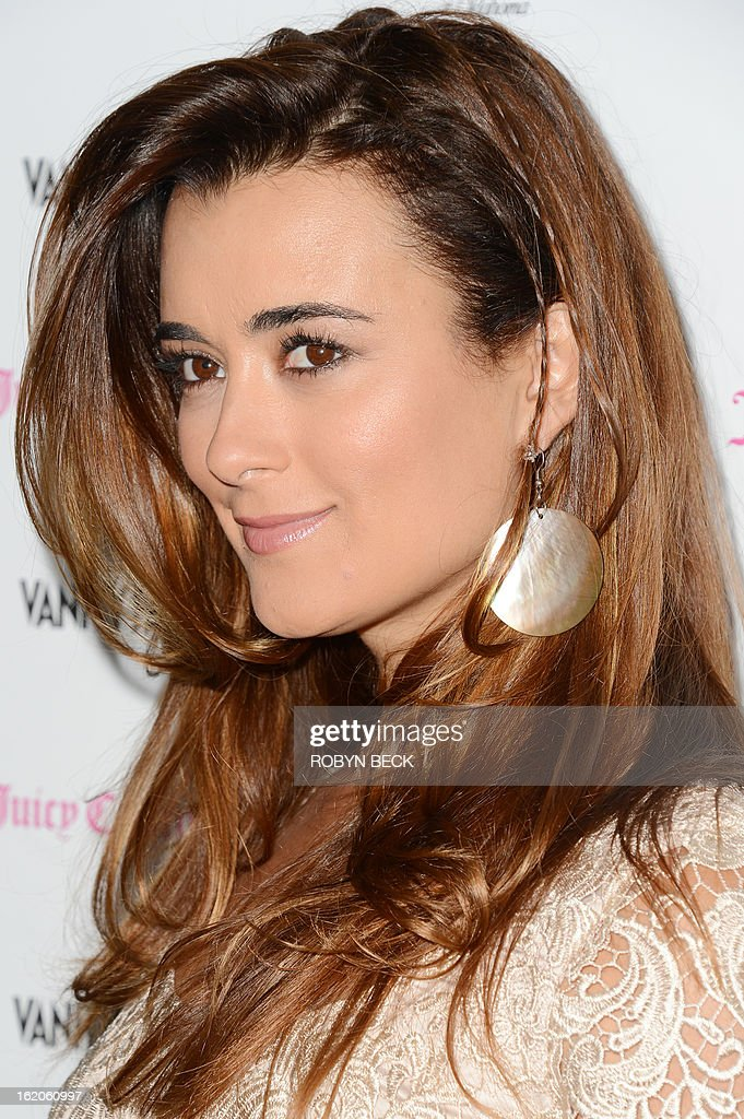 Actress Cote de Pablo attends the Vanity Fair And Juicy Couture Celebration Of The 2013 Vanities Calendar party at Chateau Marmont February 18, 2013 in West Hollywood, California. AFP PHOTO Robyn BECK