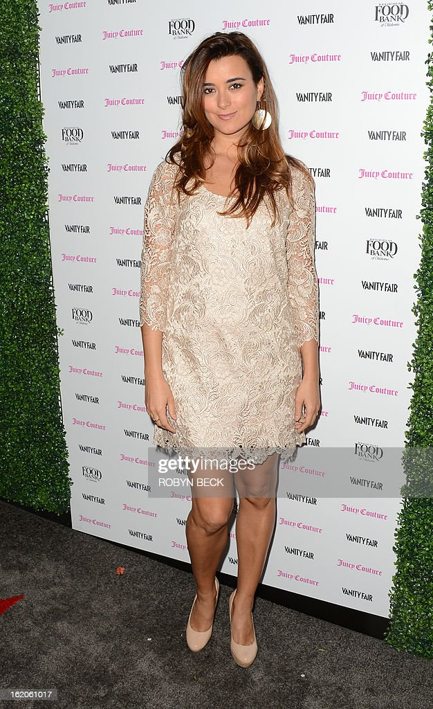 Actress Cote de Pablo attends the Vanity Fair And Juicy Couture Celebration Of The 2013 Vanities Calendar party at Chateau Marmont February 18, 2013 in West Hollywood, California. AFP PHOTO / Robyn BECK