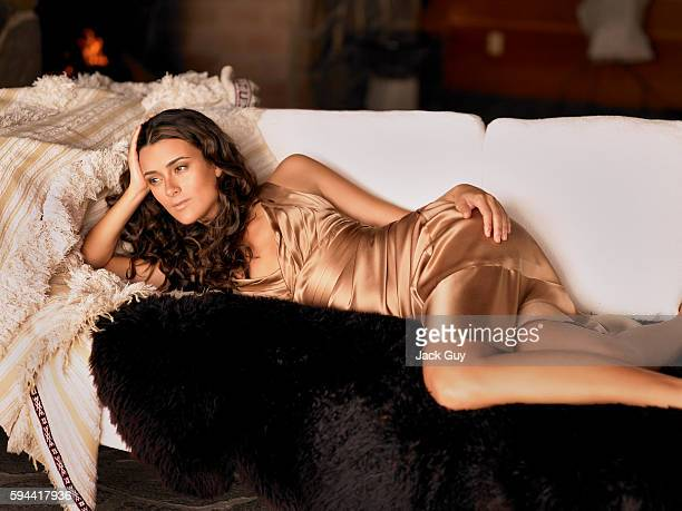 Actress Cote de Pablo is photographed for OK Magazine in 2006 in Los Angeles Calfornia PUBLISHED IMAGE