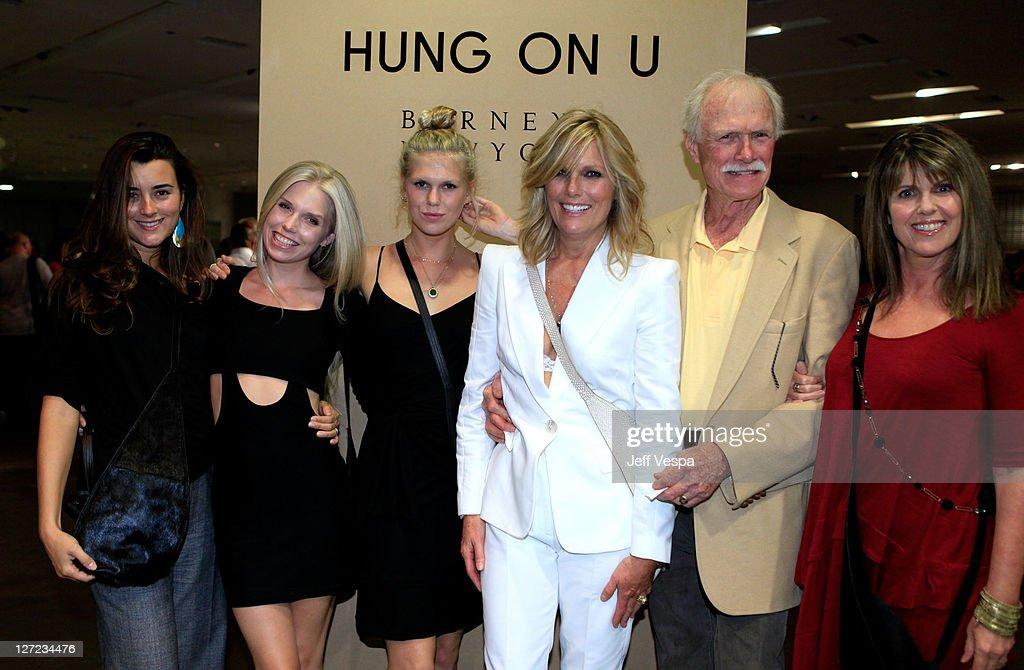 Actress Cote de Pablo Theodora Richards Alexandra Richards Patti Hansen Alfred Hansen and actress Pam Dawber attend the Barneys New York fete launch...
