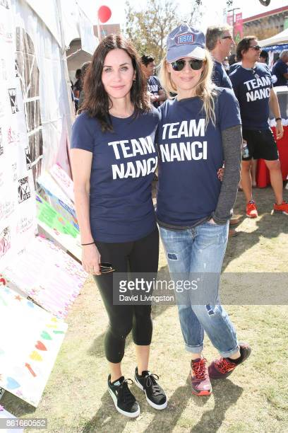 Actress Courteney Cox and Renee Zellweger attend Nanci Ryder's 'Team Nanci' at the 15th Annual LA County Walk to Defeat ALS at the Exposition Park on...