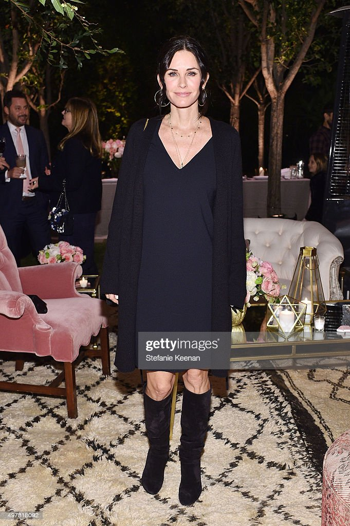 Actress Courteney Cox attends Barneys New York Jennifer Aniston and Tobey Maguire host a private dinner to celebrate The Barneys New York XO Jennifer...