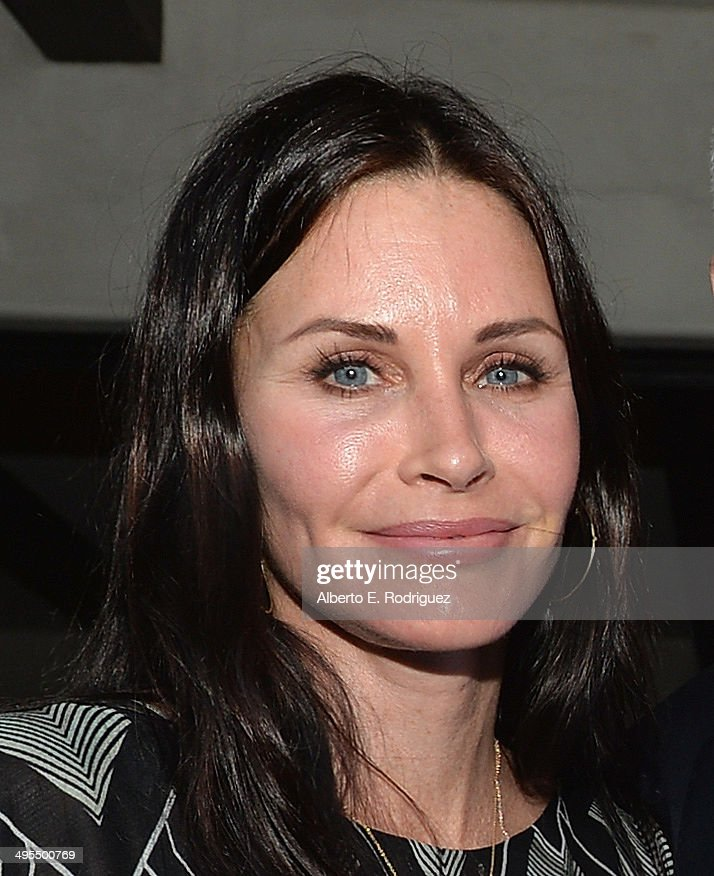 Actress <a gi-track='captionPersonalityLinkClicked' href=/galleries/search?phrase=Courteney+Cox&family=editorial&specificpeople=203101 ng-click='$event.stopPropagation()'>Courteney Cox</a> attends Kevin Morris' 'White Man's Problem' book release party on June 3, 2014 in Los Angeles, California.