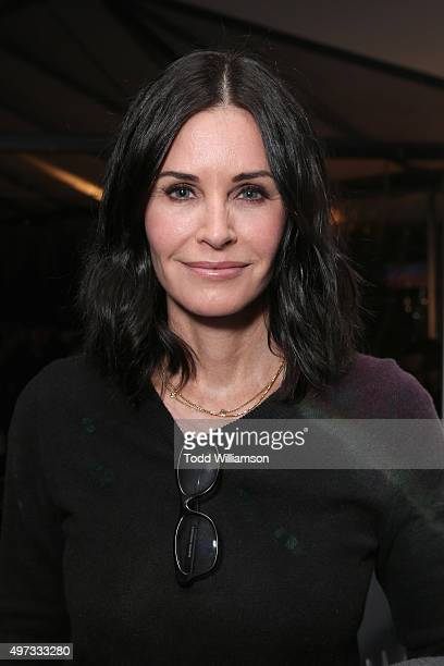 Actress Courteney Cox attends Rock4EB 2015 with Ed Sheeran and David Spade on November 15 2015 in Malibu California