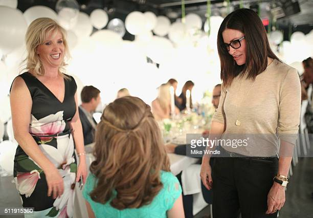 Actress Courteney Cox attends smartwater sparkling celebrates Jennifer Aniston and St Jude's Children's Hospital at W Hollywood on February 23 2016...