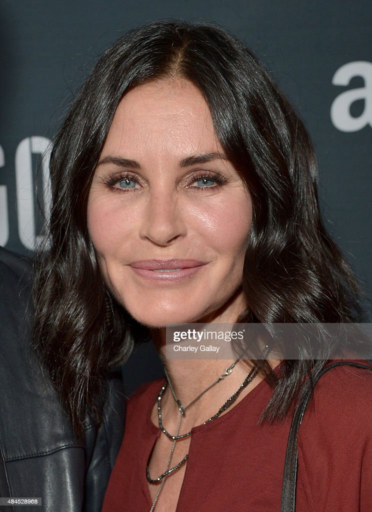 Actress <a gi-track='captionPersonalityLinkClicked' href=/galleries/search?phrase=Courteney+Cox&family=editorial&specificpeople=203101 ng-click='$event.stopPropagation()'>Courteney Cox</a> attends the Amazon premiere screening for original drama series 'Hand Of God' at The Theatre at Ace Hotel on August 19, 2015 in Los Angeles, California.