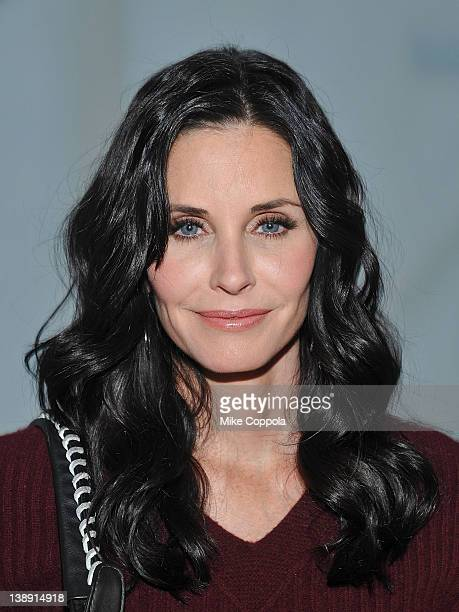 Actress Courteney Cox attends the NewbarK fall 2012 presentation during MercedesBenz Fashion Week at Milk Studios on February 13 2012 in New York City