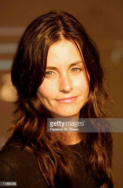 Actress Courteney Cox attends the Playstation 2 One Year Anniversary Party October 18 2001 in Los Angeles CA