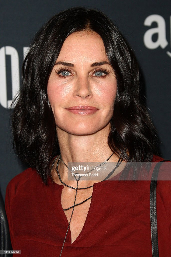 Actress <a gi-track='captionPersonalityLinkClicked' href=/galleries/search?phrase=Courteney+Cox&family=editorial&specificpeople=203101 ng-click='$event.stopPropagation()'>Courteney Cox</a> attends the premiere of Amazon's series 'Hand Of God' held at the Ace Theater Downtown LA on August 19, 2015 in Los Angeles, California.