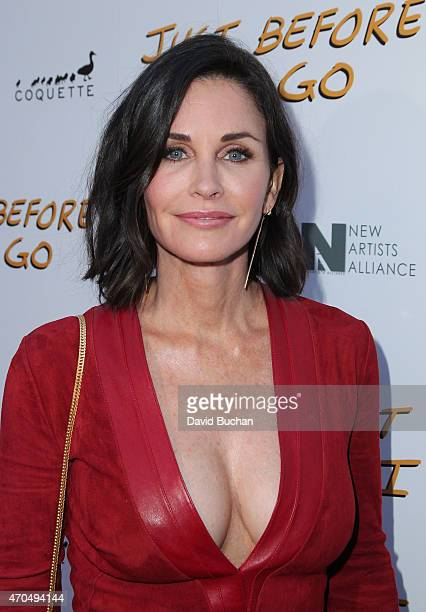 Actress Courteney Cox attends the screening of Anchor Bay Entertainment's 'Just Before I Go' at ArcLight Hollywood on April 20 2015 in Hollywood...