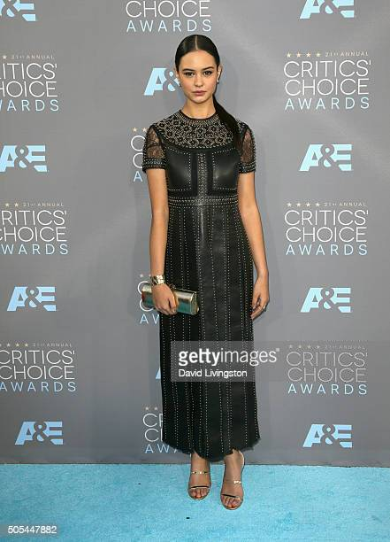 Actress Courtney Eaton attends The 21st Annual Critics' Choice Awards at Barker Hangar on January 17 2016 in Santa Monica California