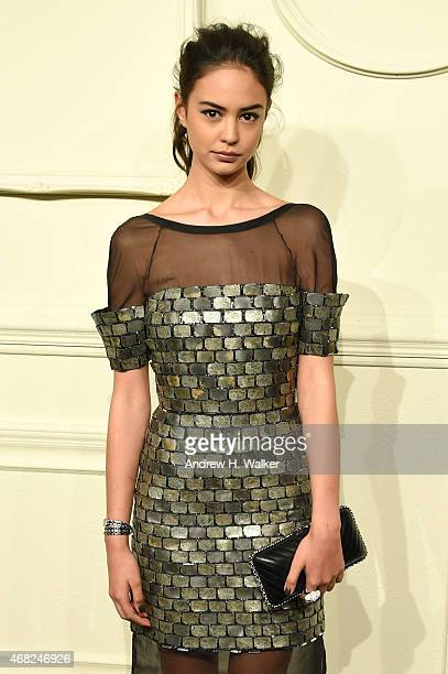 Actress Courtney Eaton attends the CHANEL ParisSalzburg 2014/15 Metiers d'Art Collection in New York City at the Park Avenue Armory on March 31 2015...