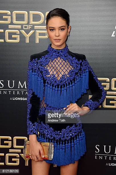 Actress Courtney Eaton attends the 'Gods Of Egypt' New York City premiere at AMC Loews Lincoln Square 13 theater on February 24 2016 in New York City