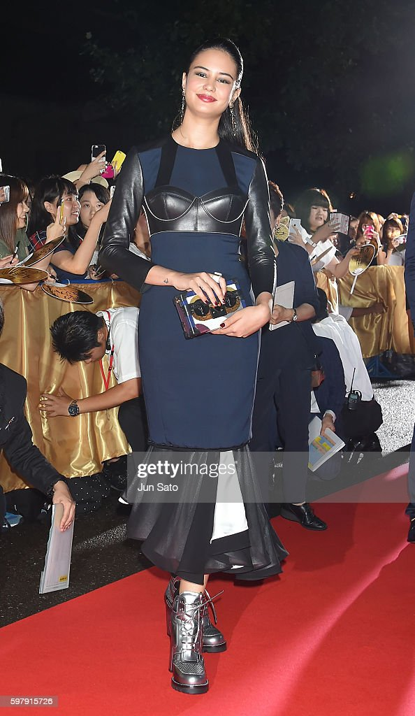 Actress Courtney Eaton attends the premiere for 'Gods Of Egypt' at Tokyo National Museum on August 30 2016 in Tokyo Japan